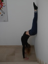 yoga against the wall